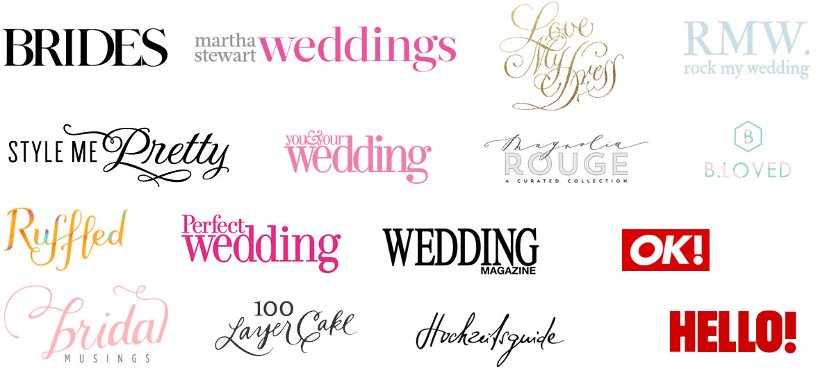 wedding magazing logos