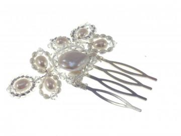Pearl and Swarovski Crystal Vintage Wedding Hair Comb