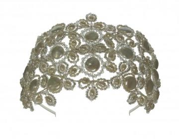 Designer Pearl and Swarovski Vintage Wedding Headpiece