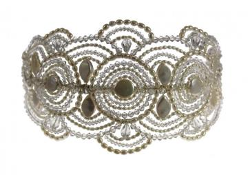 Pearl & Crystal Vintage Art Deco Bridal Tiara Headpiece