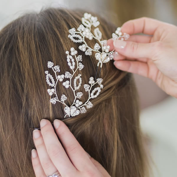 Pearl and Crystal Hair Accessories
