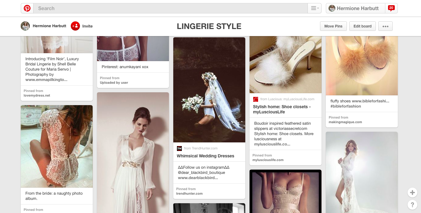 Bridal Inspirations – Lingerie Style Bride on our Pinterest Page