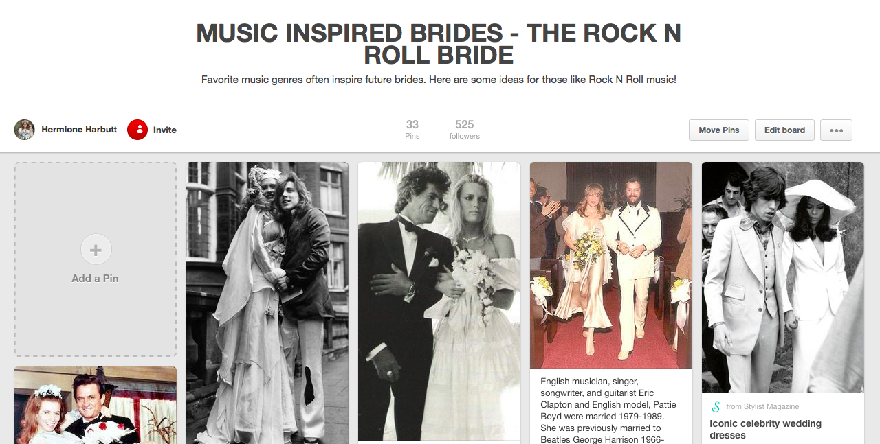 Music inspired brides – The Rock N Roll Bride.