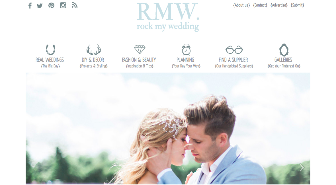 HERMIONE HARBUTT FEATURED ON ROCK MY WEDDING! HOW WONDERFUL!