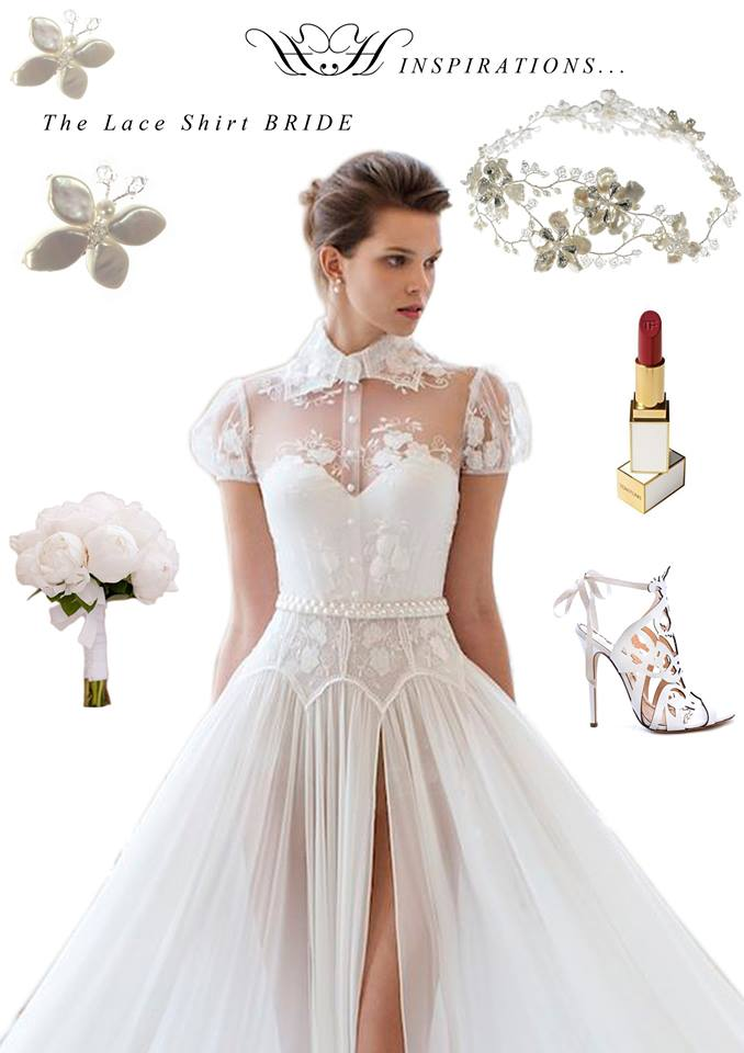 Bridal Inspirations: The Lace Shirt Bride