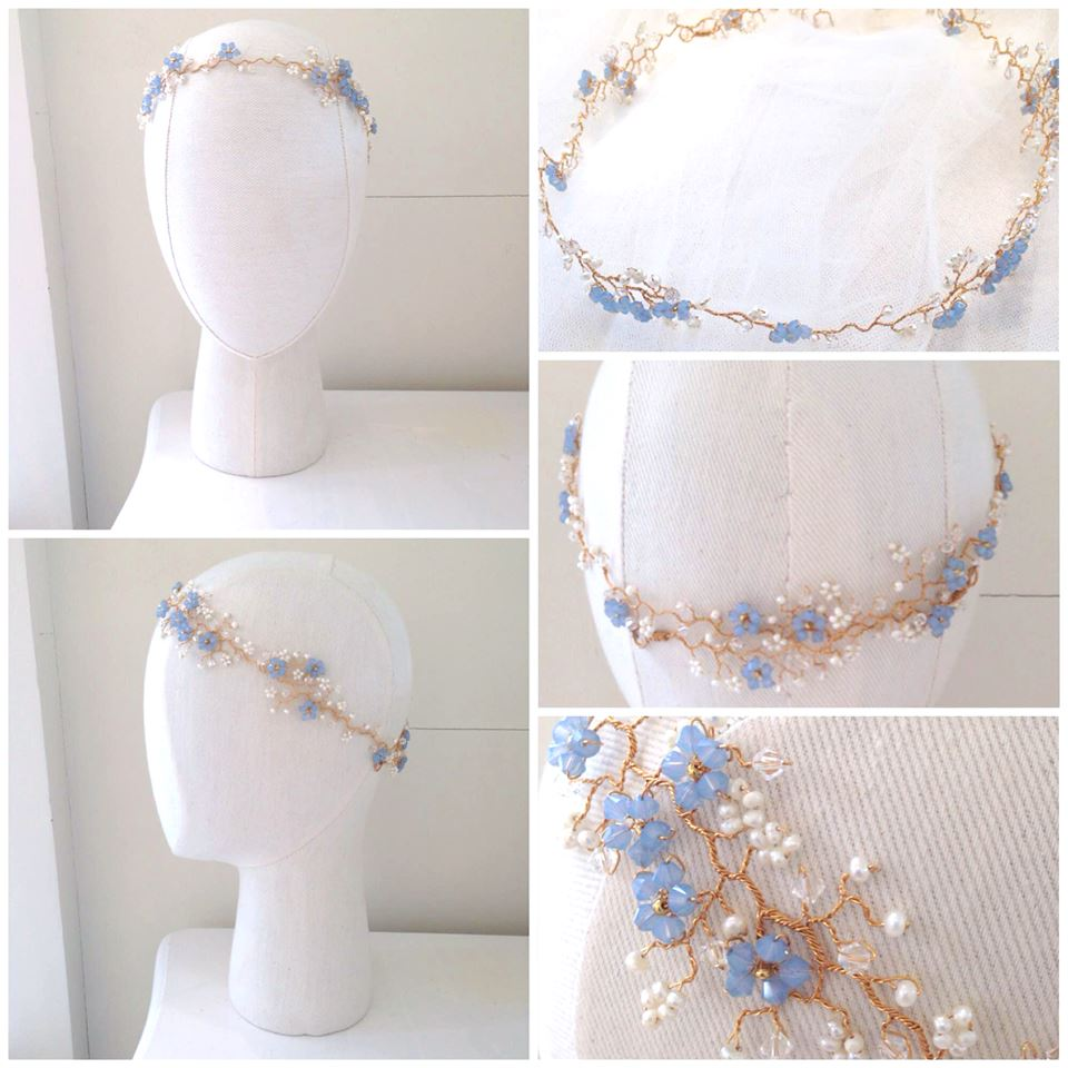 Bespoke: Violette Garland with Forget Me Not Details