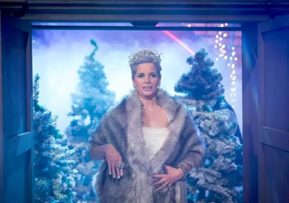 Darcey Bussell wears Hermione Harbutt for the Strictly Come Dancing Christmas Special on Christmas Day