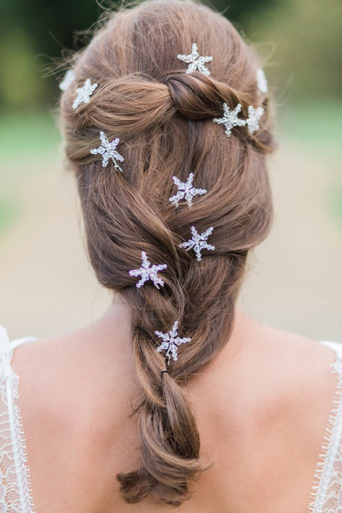 Swarovski crystal star bridal wedding hair accessories