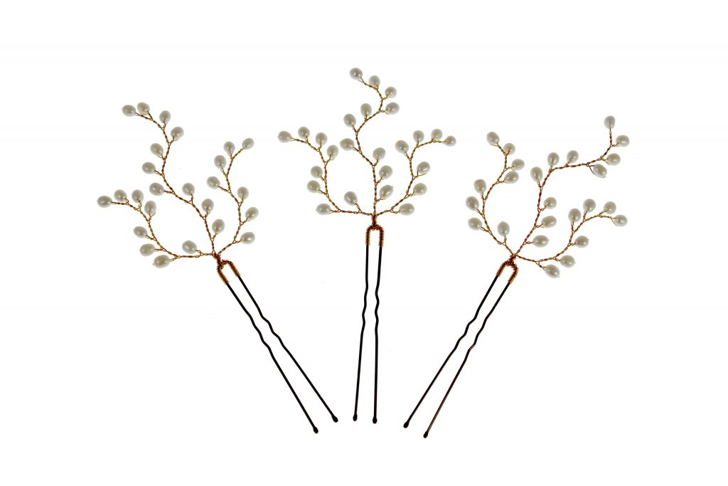 gold pearl wedding hair pins hair accessories bridal hair jewellery for bridesmaids and the wedding party