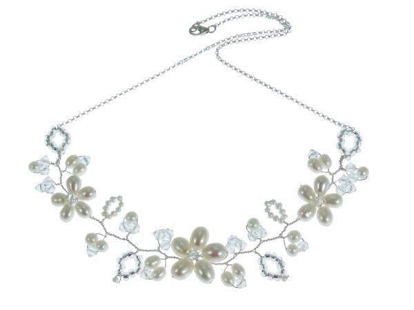 vine fashion products silver crop tone crystal vintage center jewelry inspired necklace