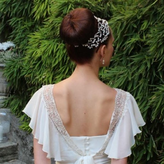 Image of Designer Grecian Pearl Vintage Wedding Hair Accessory - click to view