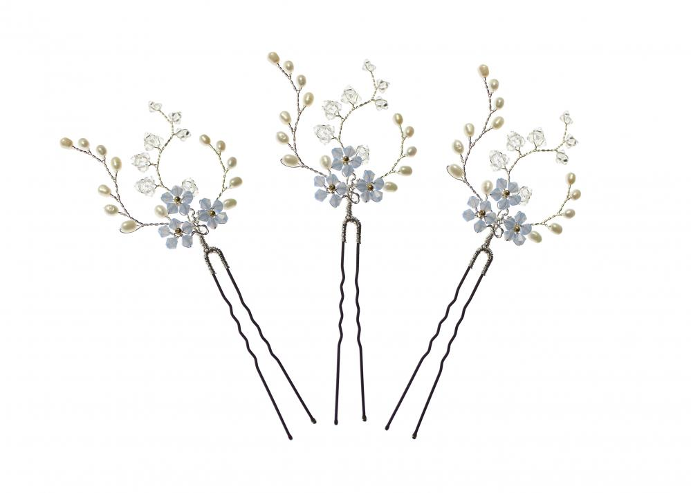 Forget Me Not Hairpins