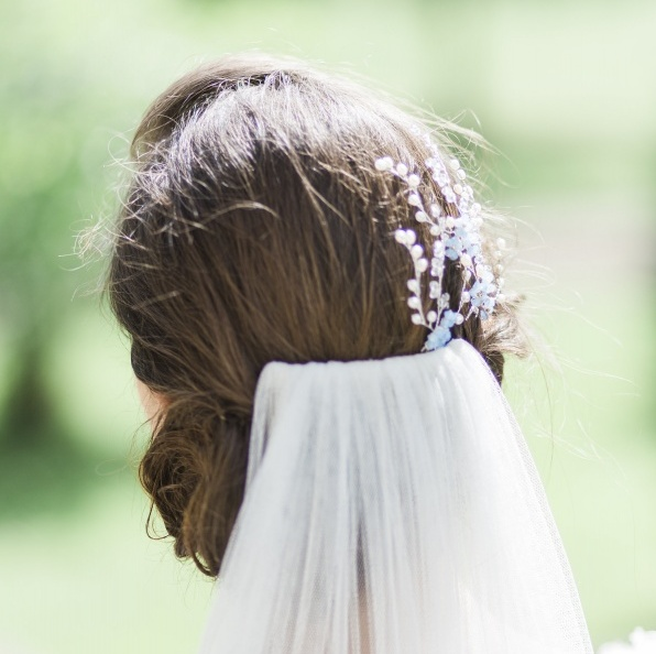 Image of Forget Me Not Hairpins - click to view
