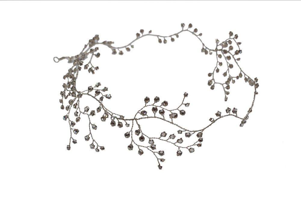 Image of silver dewdrop swarovski crystal garland - click to view