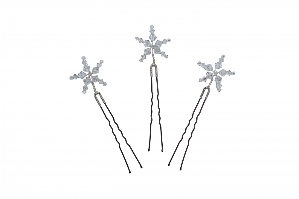 Image of star swarovski crystal hairpins - click to view