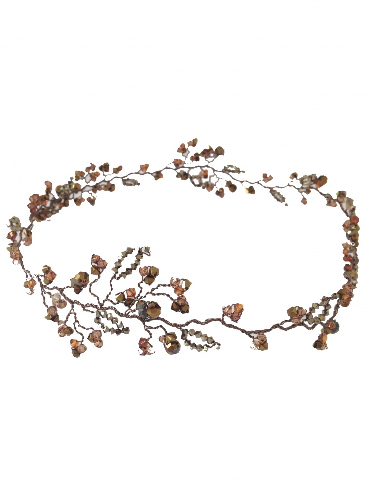 Image of bronze nova gold champagne garland - click to view