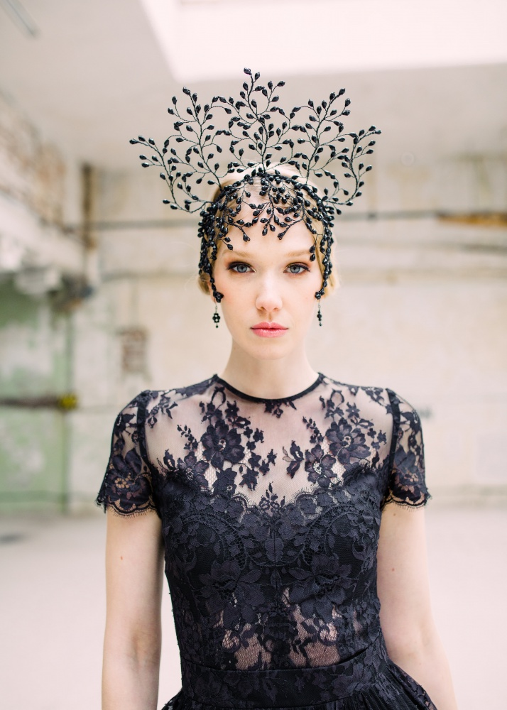 Image of Crystal embellished statement headdress  - click to view