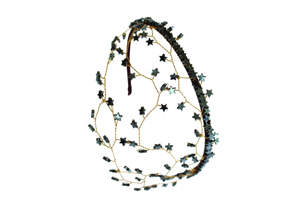 Image of Star vine crystal wire mesh headdress - click to view