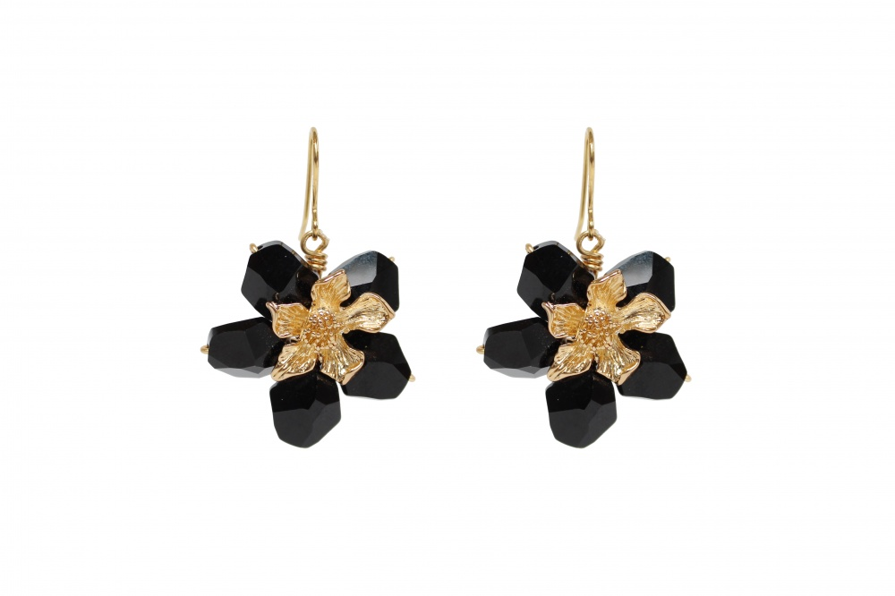 Image of Titania Black Earrings - click to view