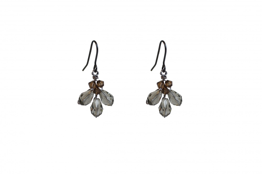 Image of Swarovski crystal drop earrings - click to view