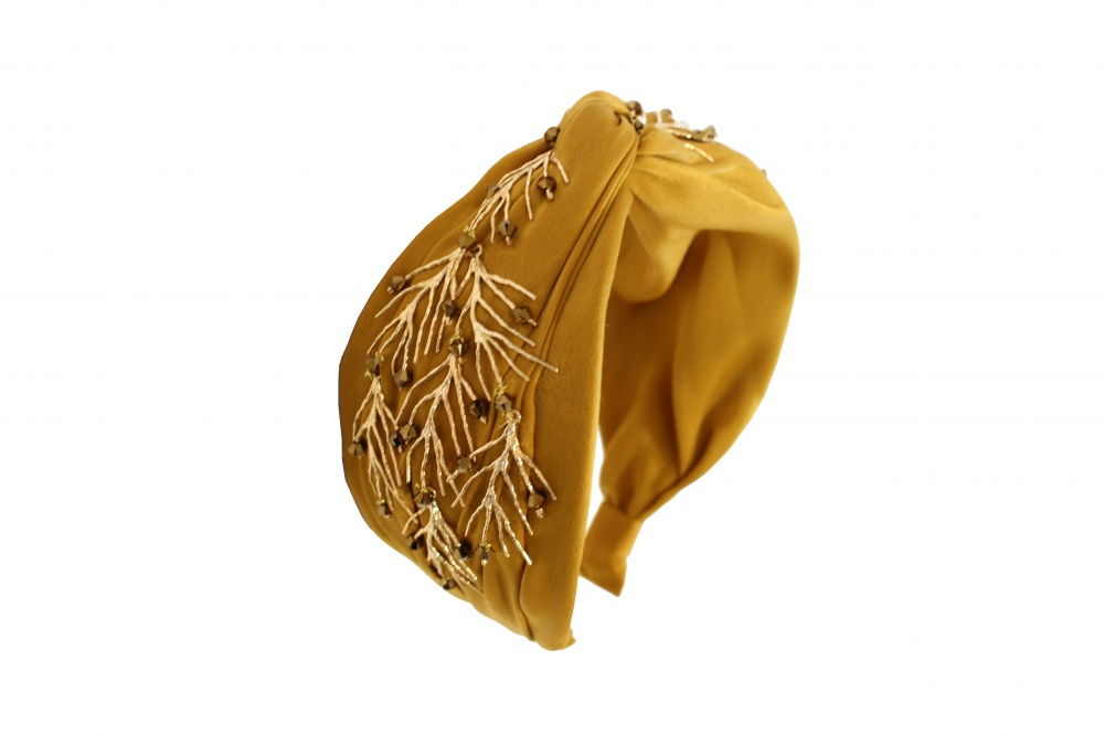 Silk Satin Embellished Headdress