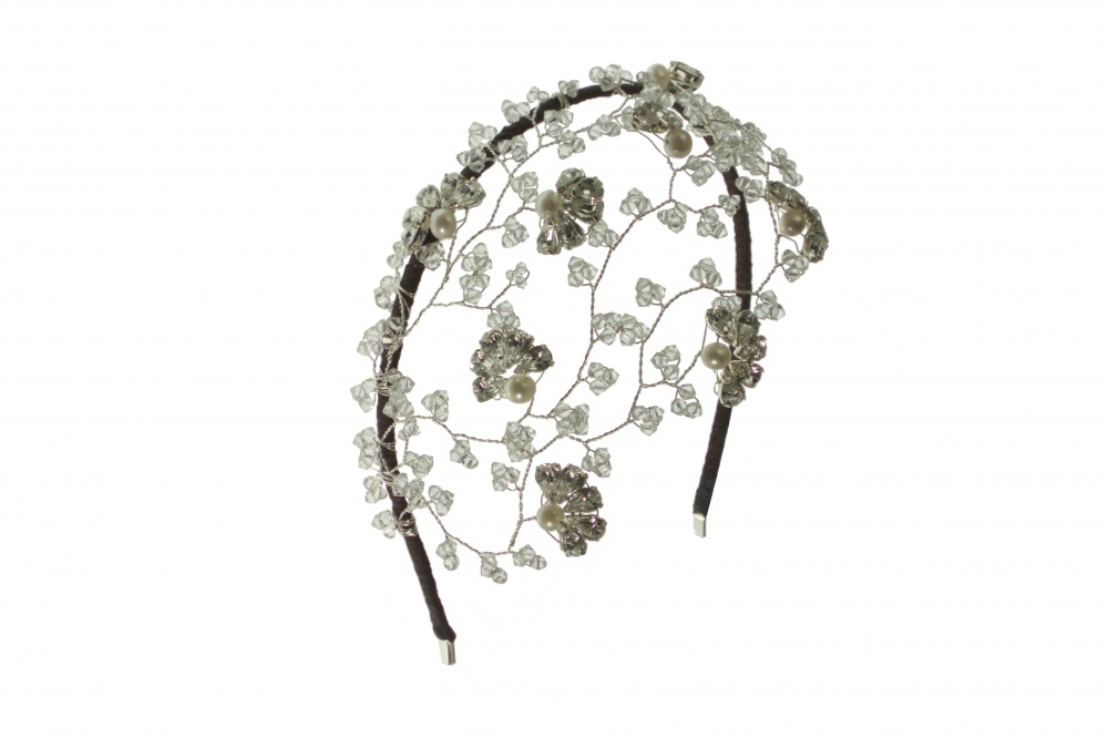 Swarovski Crystal Vintage Wedding Side Tiara Headdress