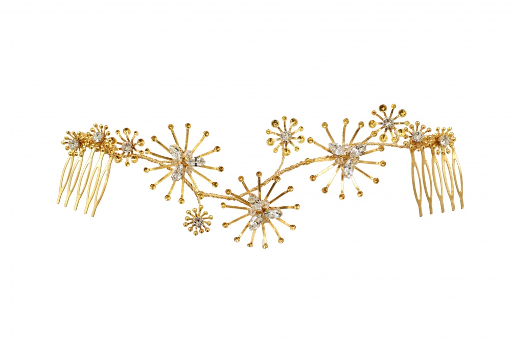 Image of Gold star headpiece - click to view