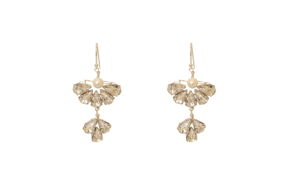 Swarovski crystal wedding drop earrings