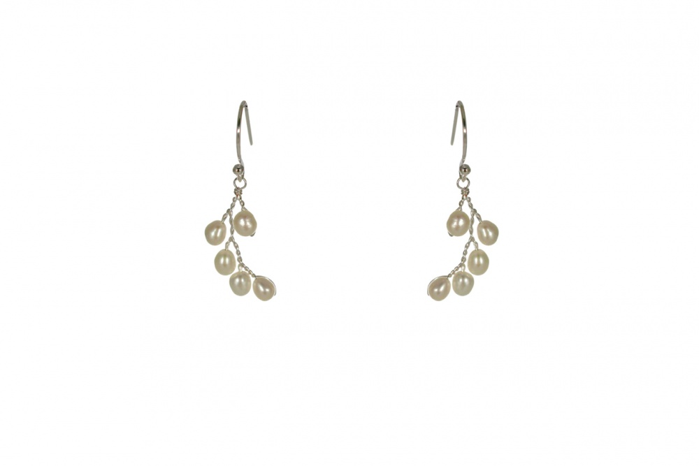 Lily Vine Silver Earrings