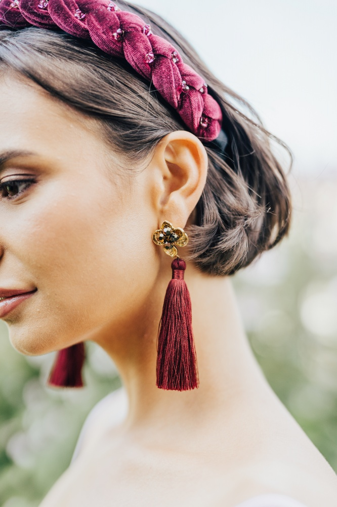 Image of Silk Tassel Earrings  - click to view