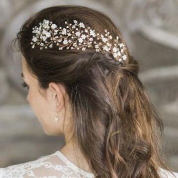 pearl and crystal flower hairpins