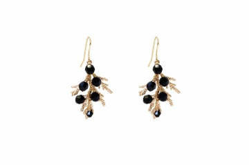 black swarovski crystal embellished gold plated drop ea