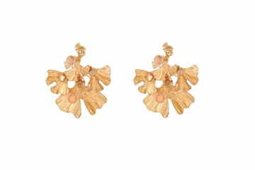 gold crystal embellished wedding earrings