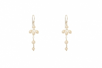 Delicate Ivory pearl drop wedding earrings