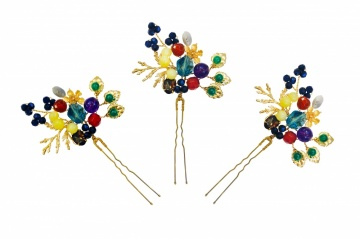 Multi stone bejewelled hairpieces