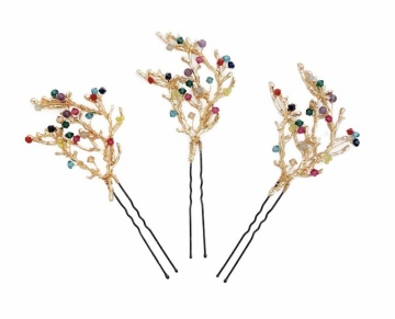 Crystal and Pearl Hairpins
